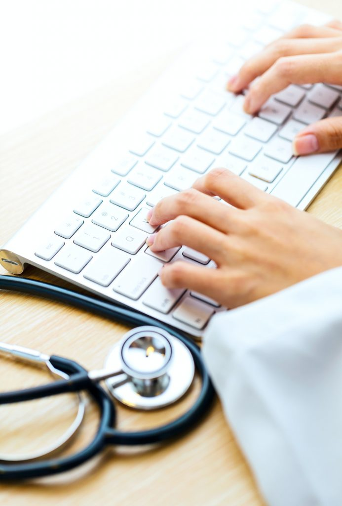 Doctor type keyboard with stethoscope